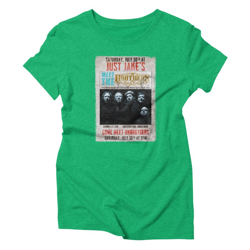 unBrothers Just Jake's Concert Shirt Women's Triblend T-Shirt by unStuff by unBrothers