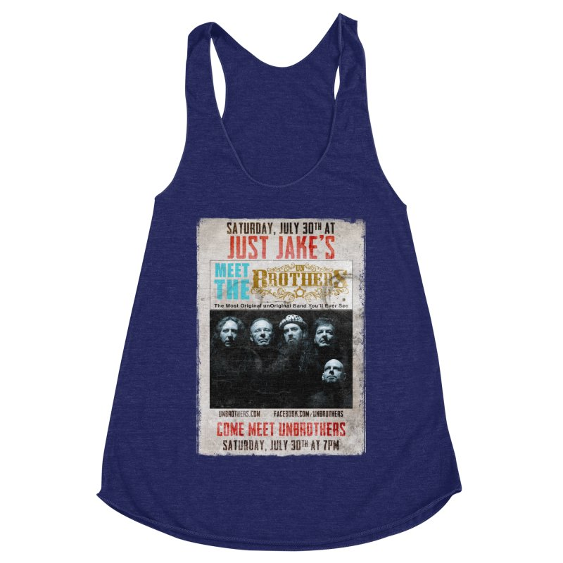unBrothers Just Jake's Concert Shirt Women's Racerback Triblend Tank by unStuff by unBrothers