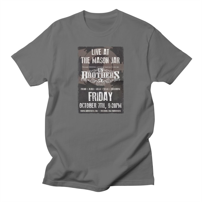 unBrothers Mason Jar Concert Shirt Men's T-Shirt by unStuff by unBrothers