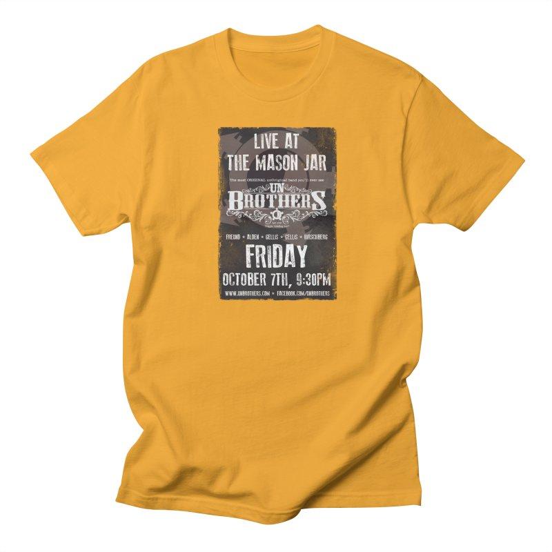 unBrothers Mason Jar Concert Shirt Men's Regular T-Shirt by unStuff by unBrothers