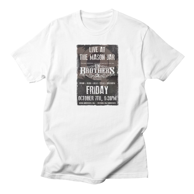 unBrothers Mason Jar Concert Shirt Men's Regular T-Shirt by unStuff by unBrothers