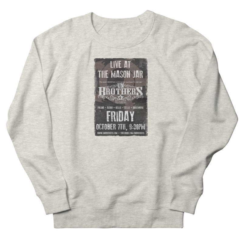 unBrothers Mason Jar Concert Shirt Women's French Terry Sweatshirt by unStuff by unBrothers