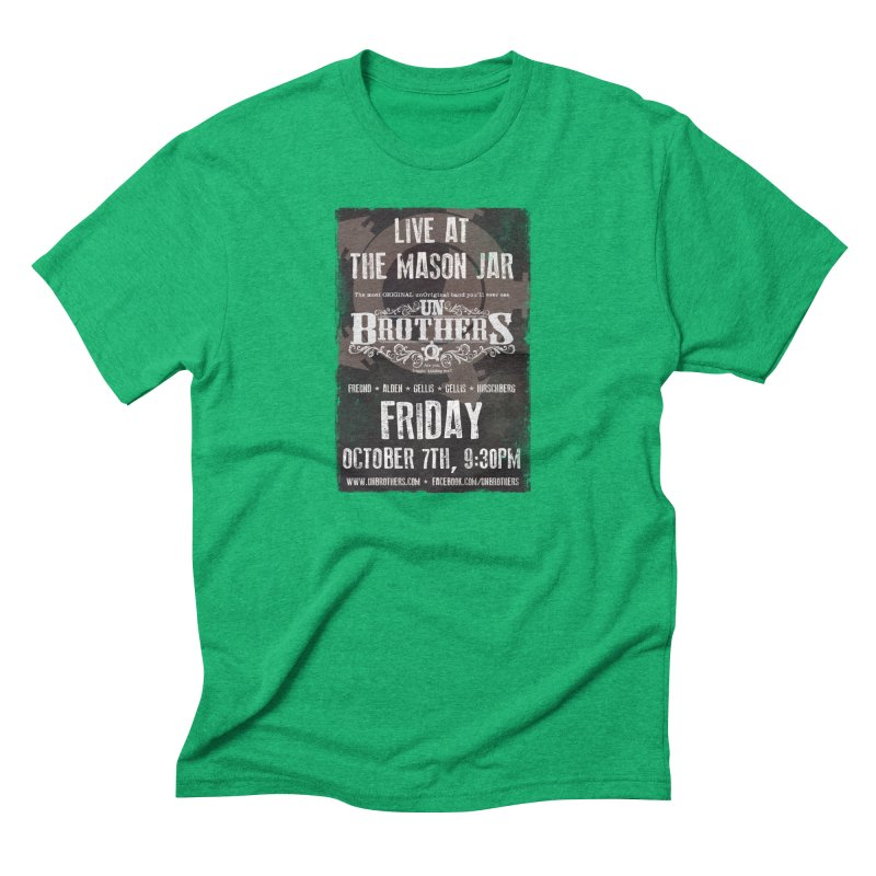 unBrothers Mason Jar Concert Shirt Men's Triblend T-Shirt by unStuff by unBrothers