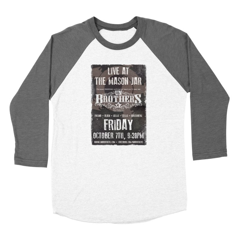 unBrothers Mason Jar Concert Shirt Women's Baseball Triblend Longsleeve T-Shirt by unStuff by unBrothers