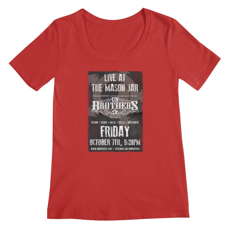 unBrothers Mason Jar Concert Shirt Women's Regular Scoop Neck by unStuff by unBrothers
