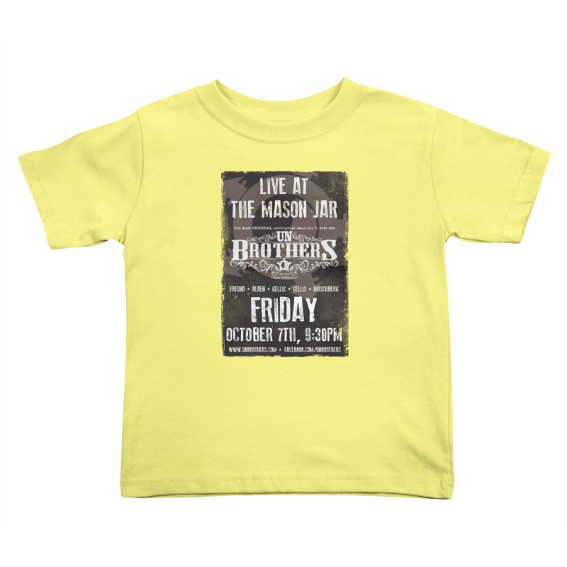 unBrothers Mason Jar Concert Shirt Kids Toddler T-Shirt by unStuff by unBrothers