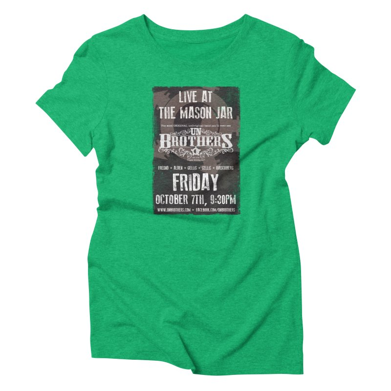 unBrothers Mason Jar Concert Shirt Women's T-Shirt by unStuff by unBrothers