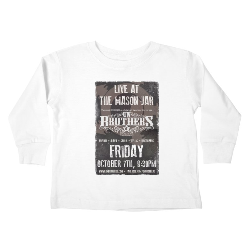 unBrothers Mason Jar Concert Shirt Kids Toddler Longsleeve T-Shirt by unStuff by unBrothers