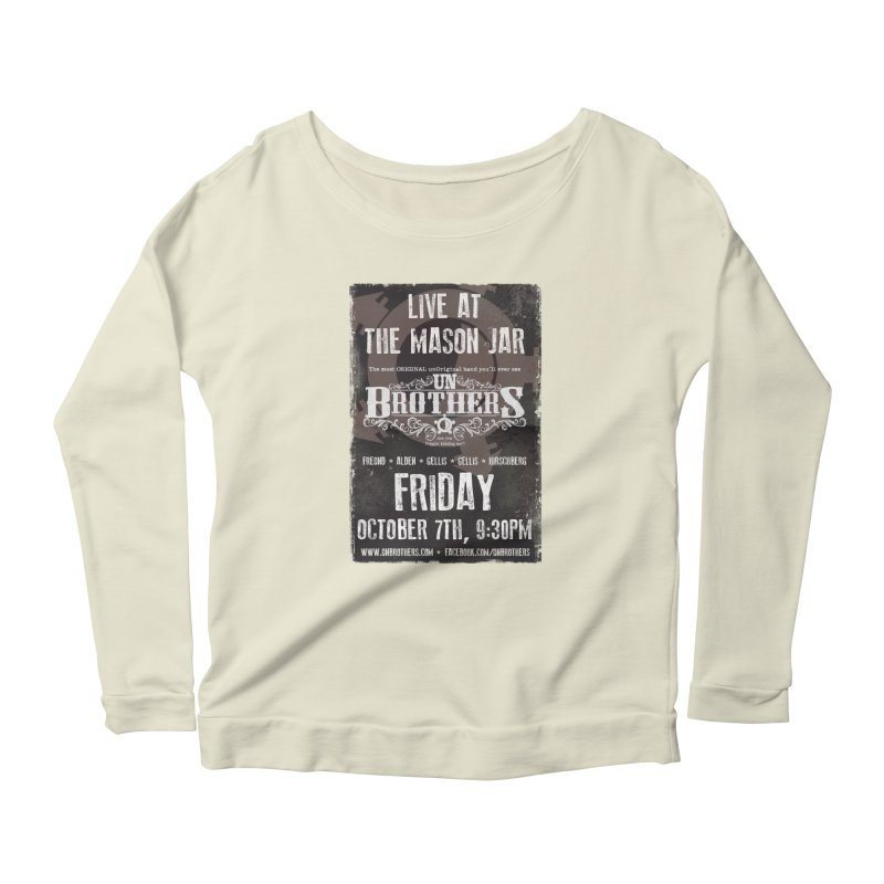 unBrothers Mason Jar Concert Shirt Women's Scoop Neck Longsleeve T-Shirt by unStuff by unBrothers
