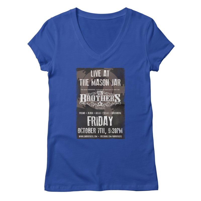 unBrothers Mason Jar Concert Shirt Women's Regular V-Neck by unStuff by unBrothers