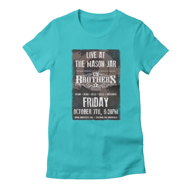 unBrothers Mason Jar Concert Shirt Women's Fitted T-Shirt by unStuff by unBrothers