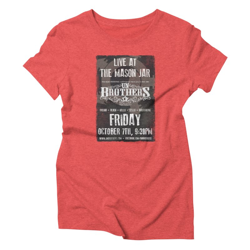 unBrothers Mason Jar Concert Shirt Women's Triblend T-Shirt by unStuff by unBrothers