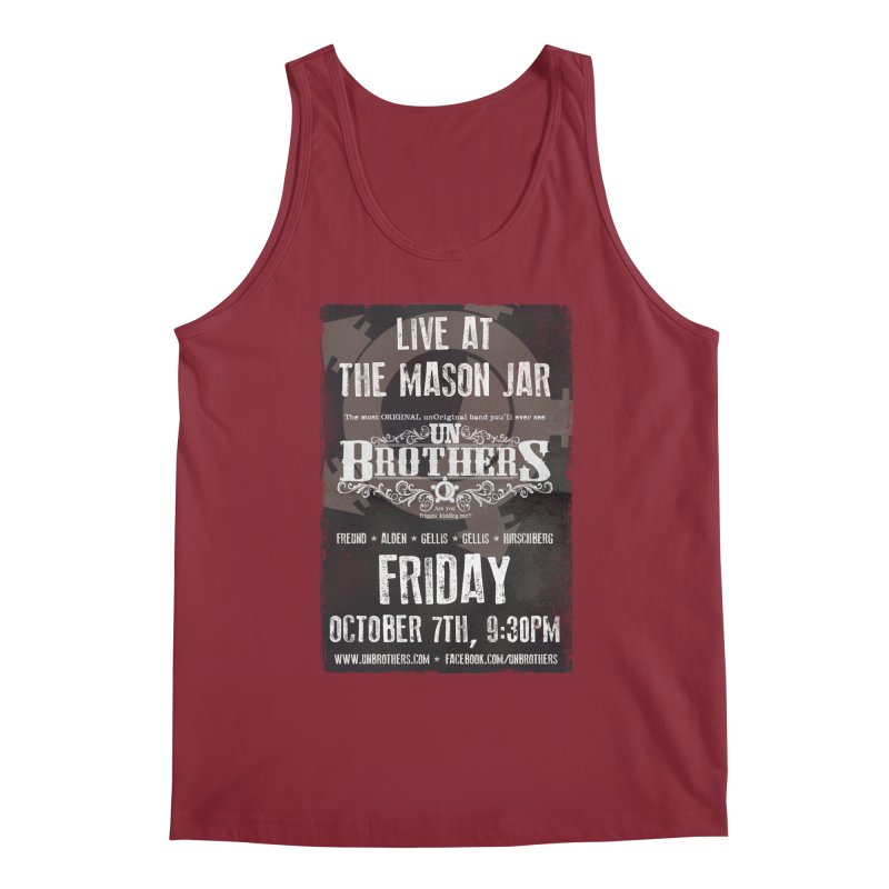 unBrothers Mason Jar Concert Shirt Men's Regular Tank by unStuff by unBrothers