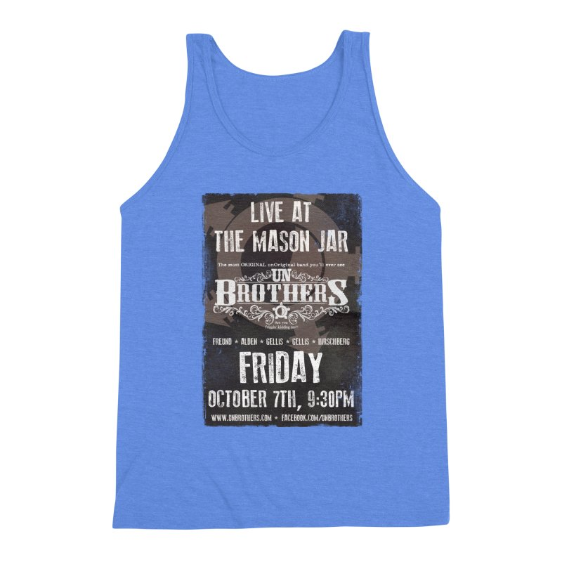 unBrothers Mason Jar Concert Shirt Men's Triblend Tank by unStuff by unBrothers