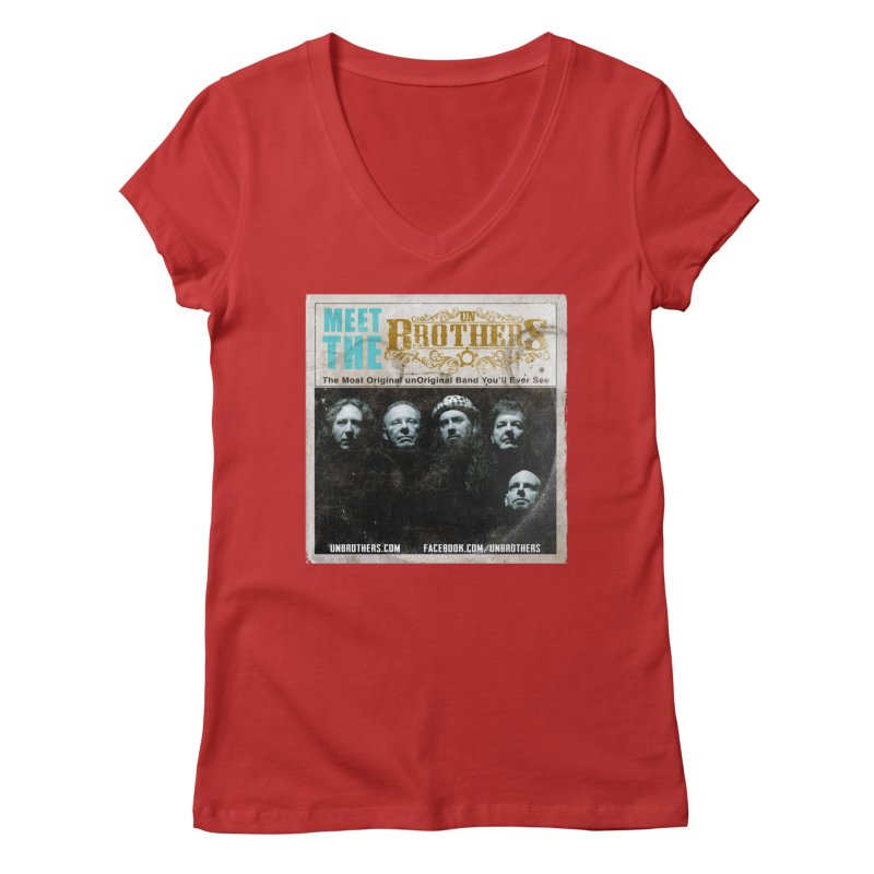 Meet the unBrothers Women's Regular V-Neck by unStuff by unBrothers