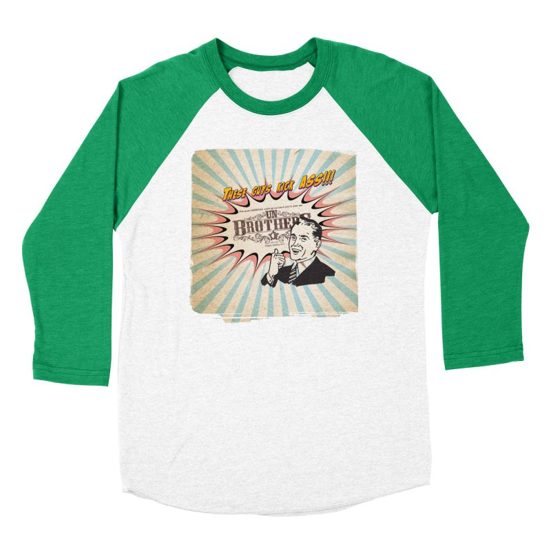Kick Ass Men's Baseball Triblend Longsleeve T-Shirt by unStuff by unBrothers