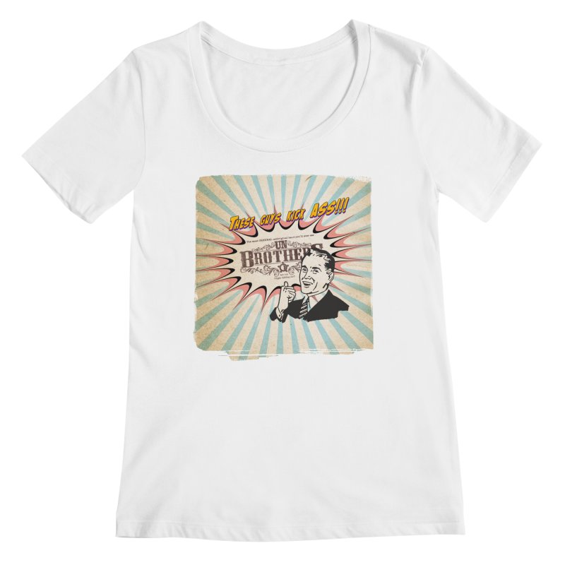 Kick Ass Women's Regular Scoop Neck by unStuff by unBrothers