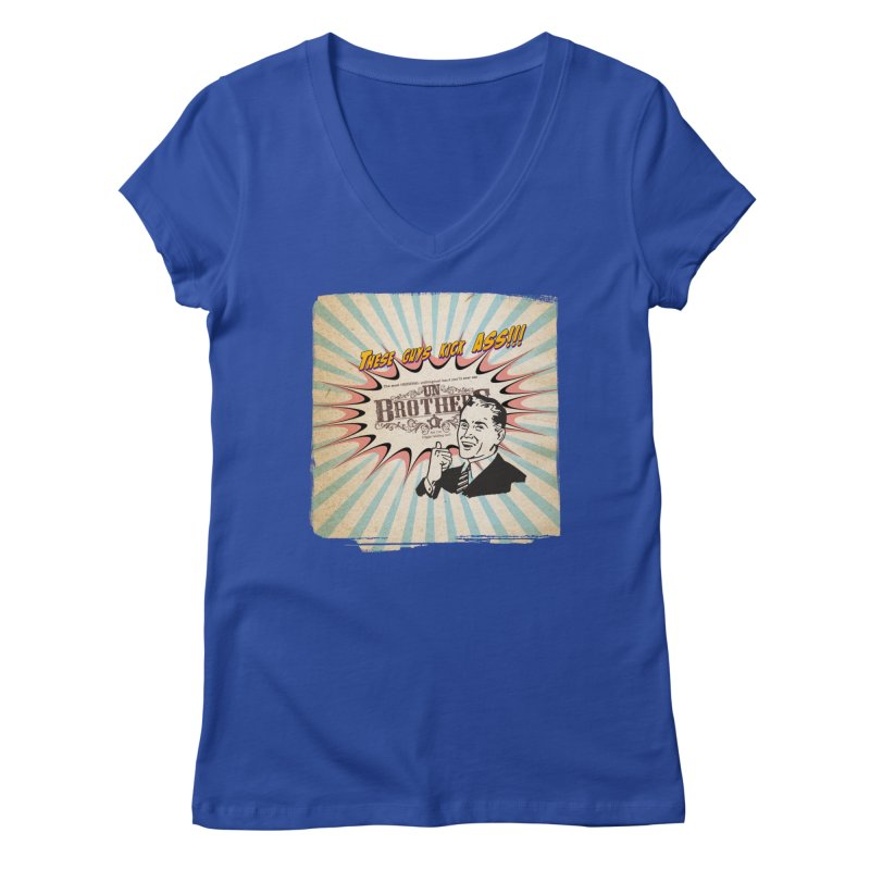 Kick Ass Women's Regular V-Neck by unStuff by unBrothers
