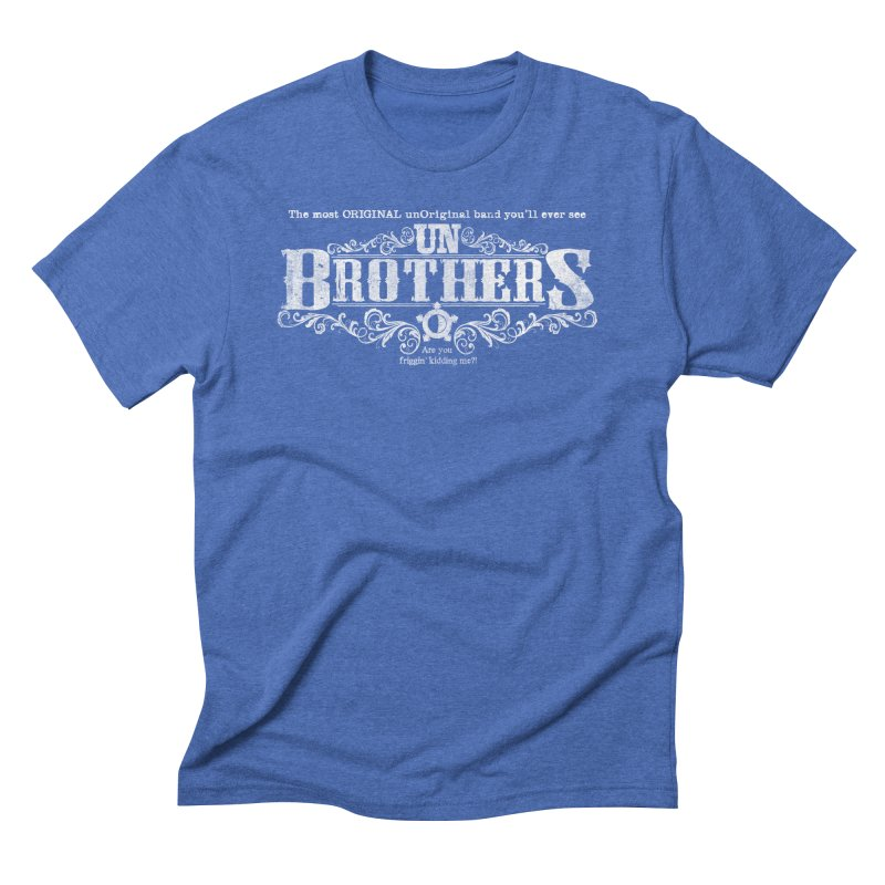 unBrothers White logo Men's T-Shirt by unStuff by unBrothers