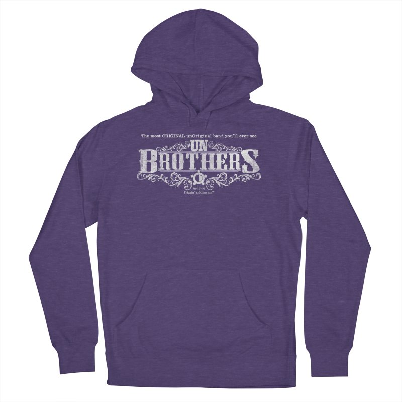unBrothers White logo Women's Pullover Hoody by unStuff by unBrothers
