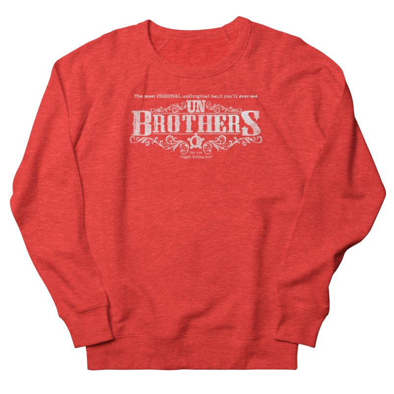 unBrothers White logo Women's Sweatshirt by unStuff by unBrothers