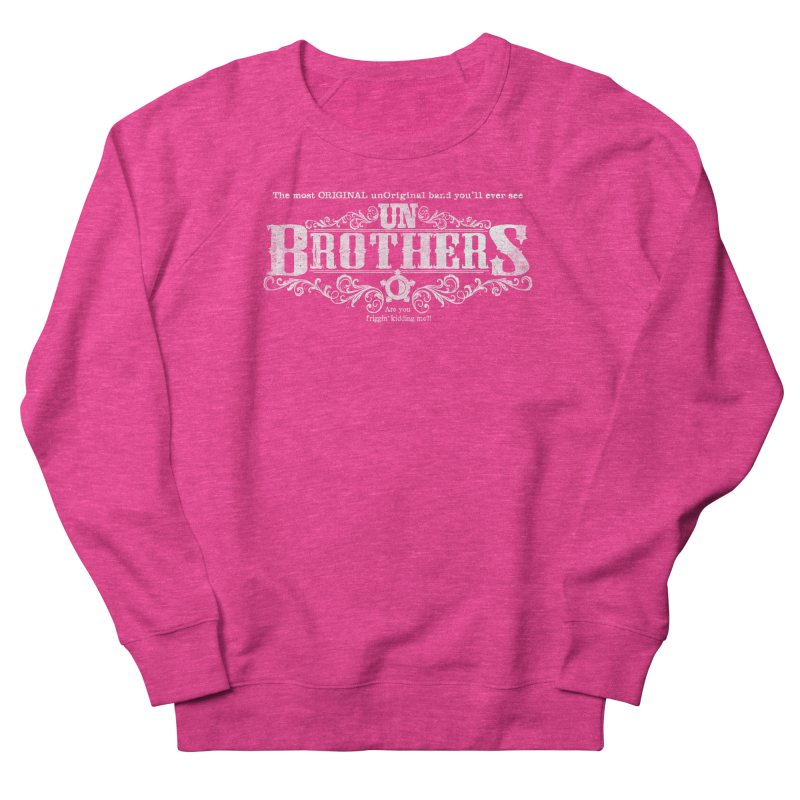 unBrothers White logo Women's French Terry Sweatshirt by unStuff by unBrothers