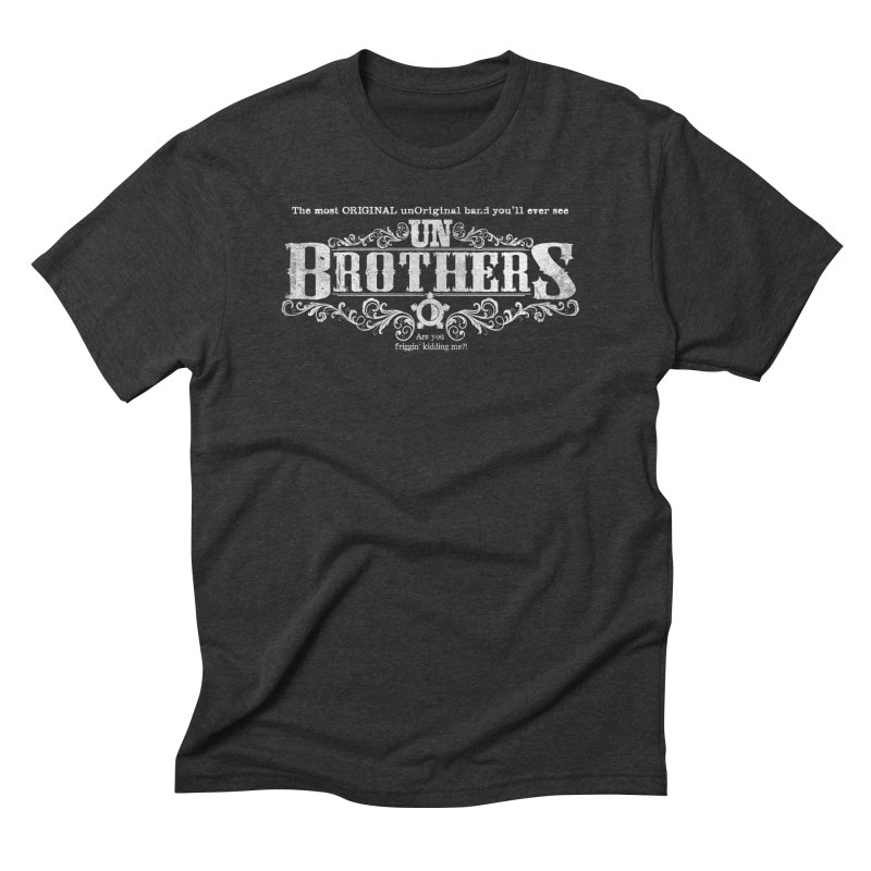 unBrothers White logo Men's Triblend T-Shirt by unStuff by unBrothers