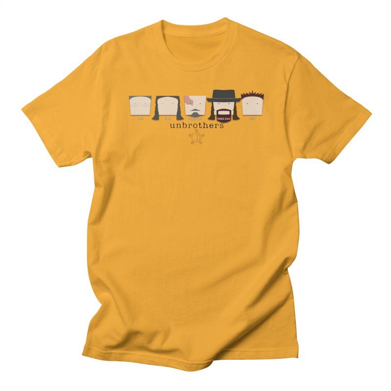 Blockheads in Men's Regular T-Shirt Gold by unStuff by unBrothers