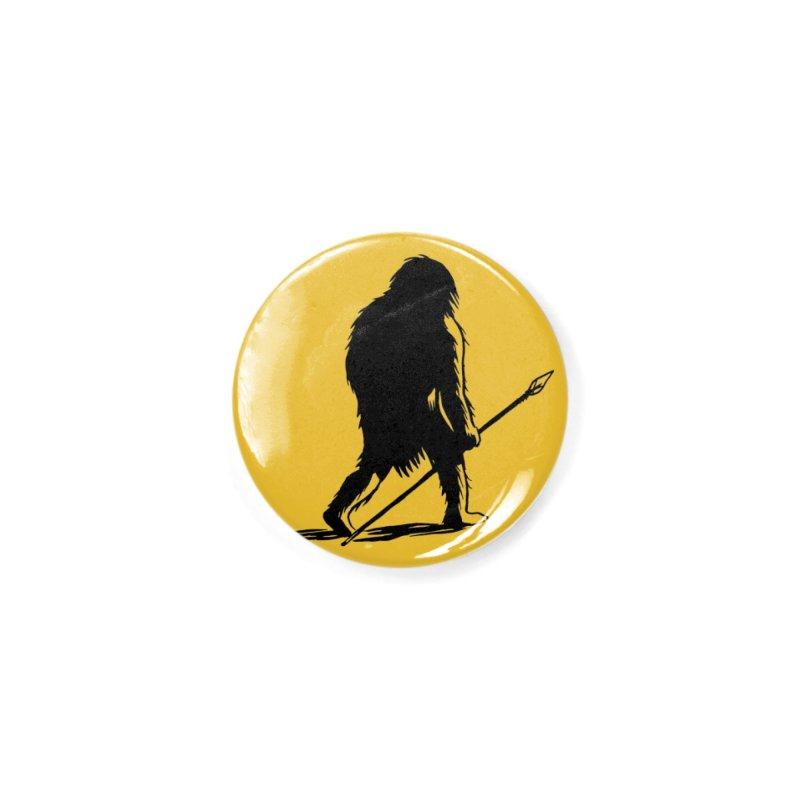 Uncivilized Books Caveman Logo T-Shirt Accessories Button by Uncivilized Books Merch Shop