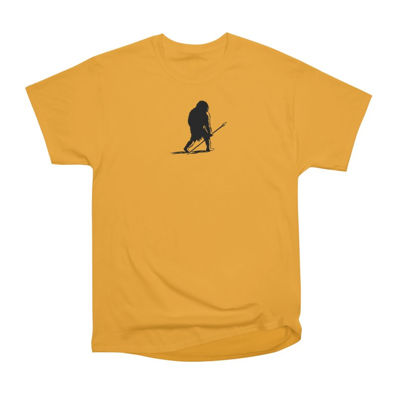 Uncivilized Books Caveman Logo T-Shirt in Men's Heavyweight T-Shirt Gold by Uncivilized Books Merch Shop