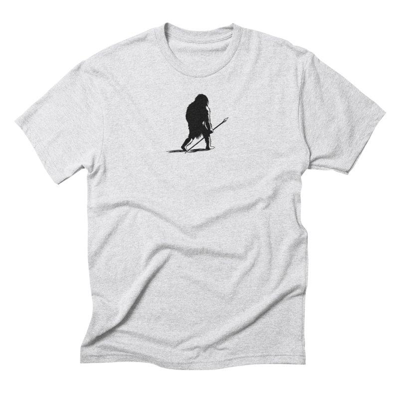 Uncivilized Books Caveman Logo T-Shirt Men's Triblend T-Shirt by Uncivilized Books Merch Shop