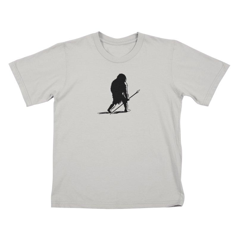 Uncivilized Books Caveman Logo T-Shirt Kids T-Shirt by Uncivilized Books Merch Shop