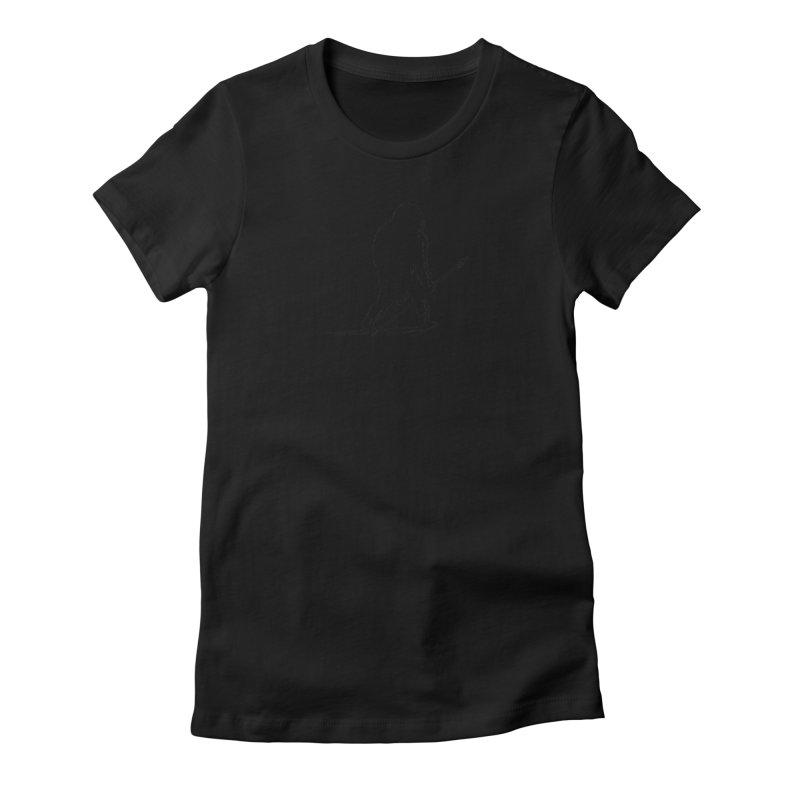 Uncivilized Books Caveman Logo T-Shirt Women's Fitted T-Shirt by Uncivilized Books Merch Shop