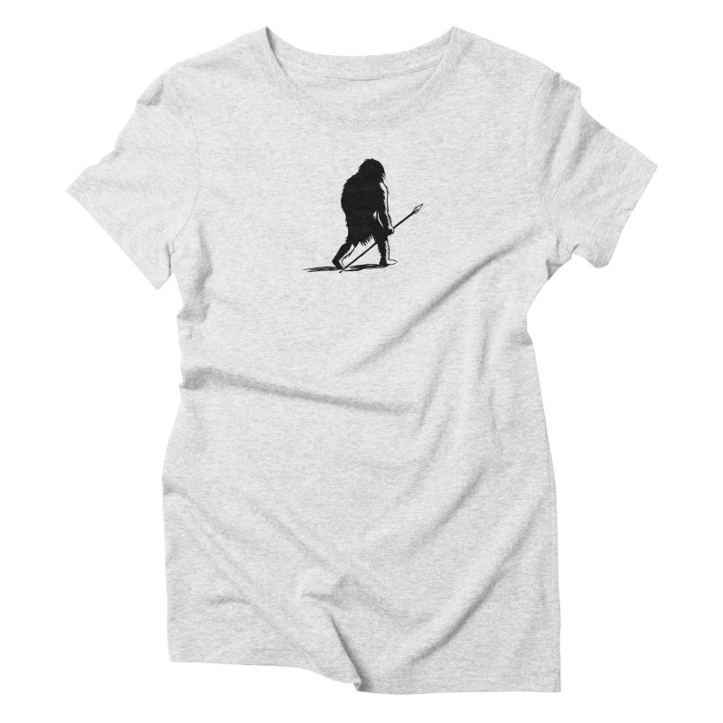 Uncivilized Books Caveman Logo T-Shirt Women's Triblend T-Shirt by Uncivilized Books Merch Shop