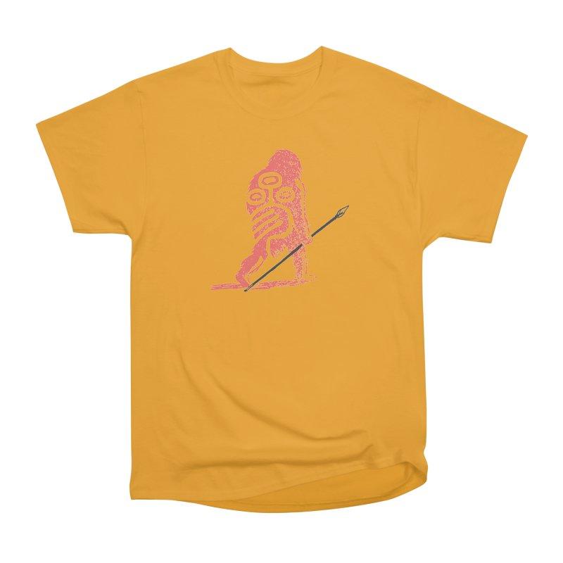 CRAIG THOMPSON UNCIV CAVEMAN LOGO Men's Heavyweight T-Shirt by Uncivilized Books Merch Shop