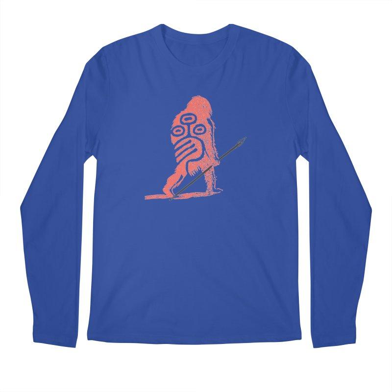 CRAIG THOMPSON UNCIV CAVEMAN LOGO Men's Regular Longsleeve T-Shirt by Uncivilized Books Merch Shop