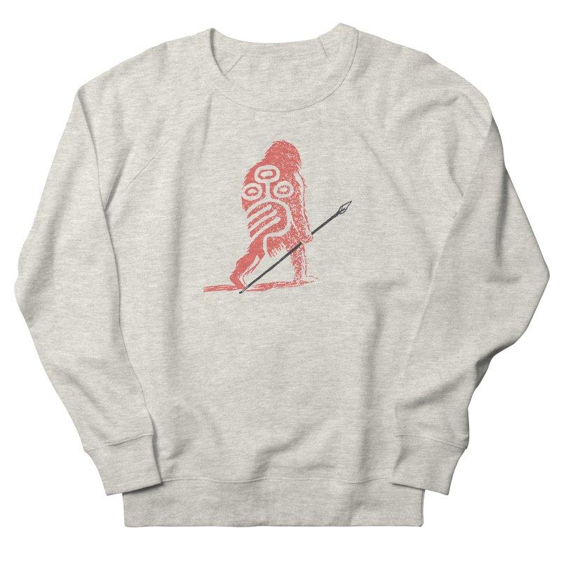 CRAIG THOMPSON UNCIV CAVEMAN LOGO Women's French Terry Sweatshirt by Uncivilized Books Merch Shop