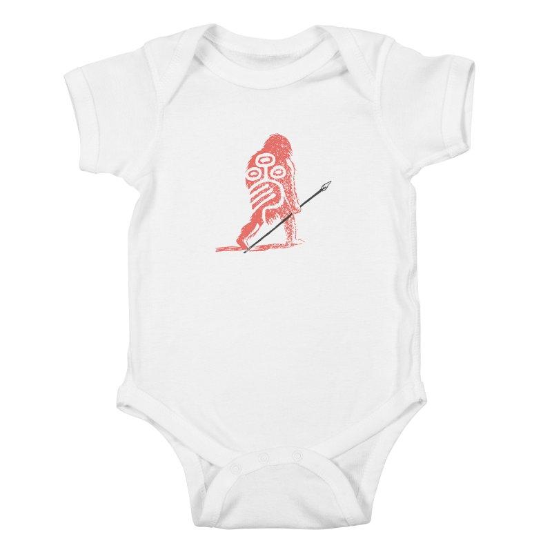 CRAIG THOMPSON UNCIV CAVEMAN LOGO Kids Baby Bodysuit by Uncivilized Books Merch Shop