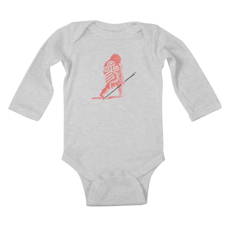 CRAIG THOMPSON UNCIV CAVEMAN LOGO Kids Baby Longsleeve Bodysuit by Uncivilized Books Merch Shop