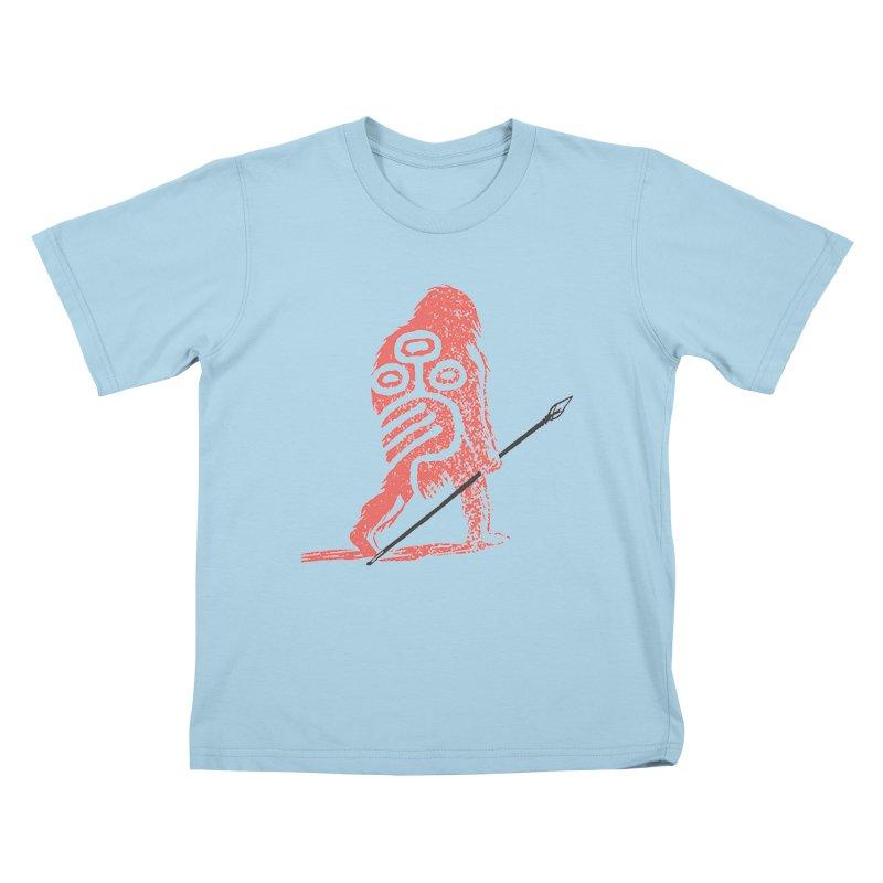 CRAIG THOMPSON UNCIV CAVEMAN LOGO Kids T-Shirt by Uncivilized Books Merch Shop