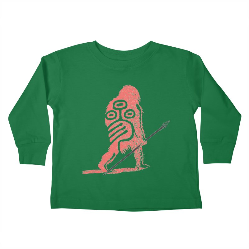 CRAIG THOMPSON UNCIV CAVEMAN LOGO Kids Toddler Longsleeve T-Shirt by Uncivilized Books Merch Shop