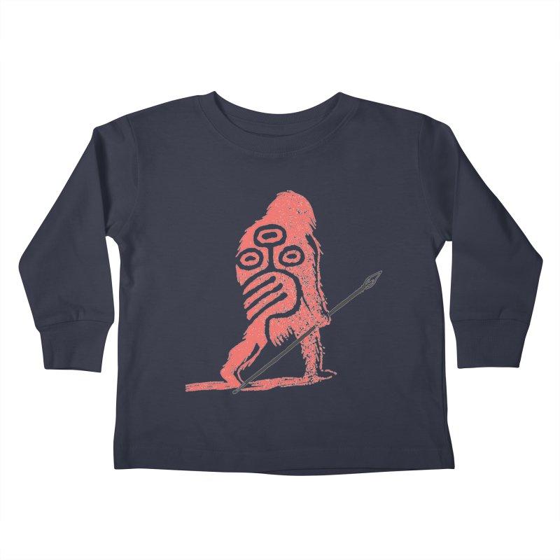 CRAIG THOMPSON UNCIV CAVEMAN LOGO Kids Toddler Longsleeve T-Shirt by Uncivilized Books Merch Shop