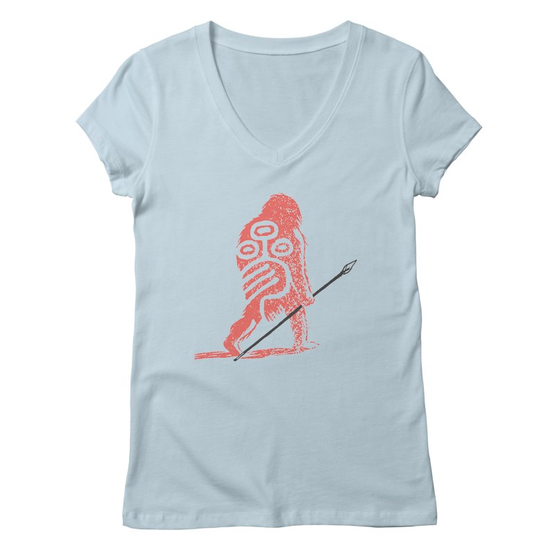 CRAIG THOMPSON UNCIV CAVEMAN LOGO Women's Regular V-Neck by Uncivilized Books Merch Shop