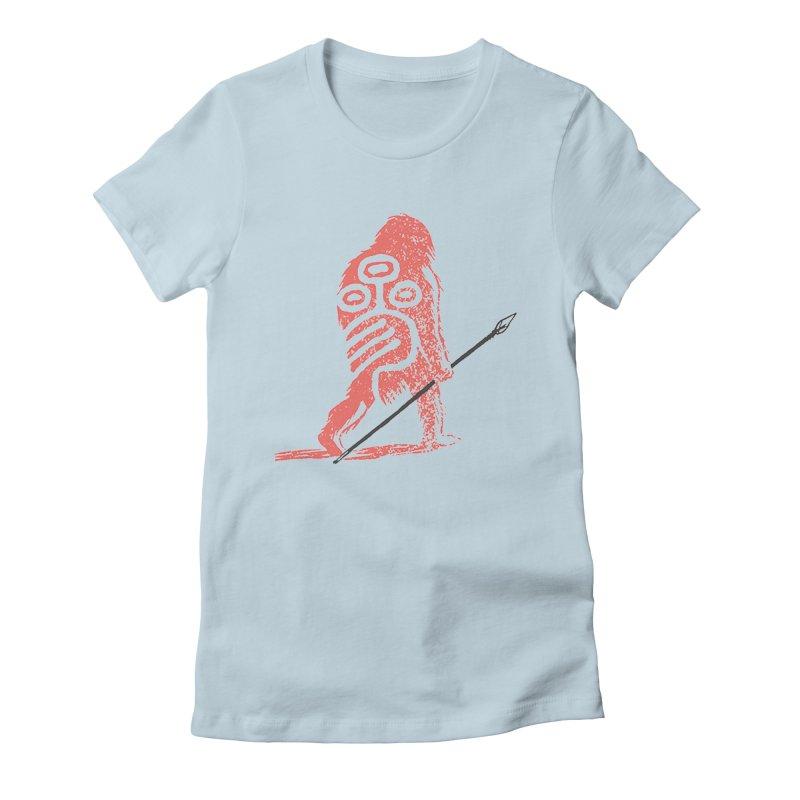 CRAIG THOMPSON UNCIV CAVEMAN LOGO Women's Fitted T-Shirt by Uncivilized Books Merch Shop