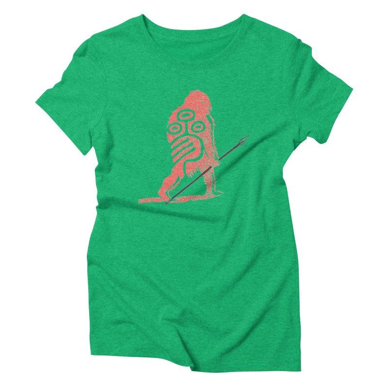 CRAIG THOMPSON UNCIV CAVEMAN LOGO Women's Triblend T-Shirt by Uncivilized Books Merch Shop