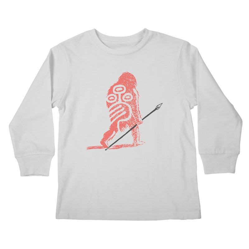 CRAIG THOMPSON UNCIV CAVEMAN LOGO Kids Longsleeve T-Shirt by Uncivilized Books Merch Shop