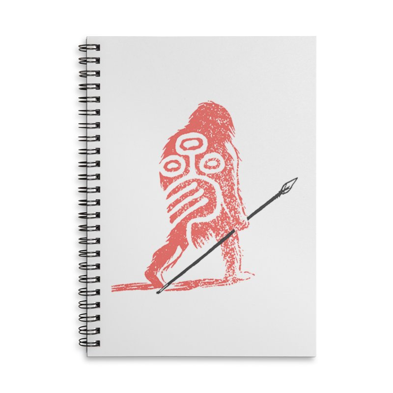 CRAIG THOMPSON UNCIV CAVEMAN LOGO Accessories Lined Spiral Notebook by Uncivilized Books Merch Shop