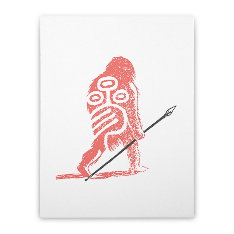 CRAIG THOMPSON UNCIV CAVEMAN LOGO Home Stretched Canvas by Uncivilized Books Merch Shop