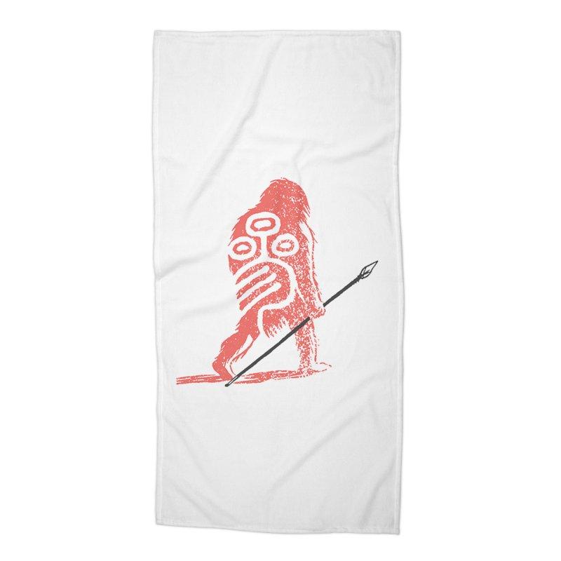 CRAIG THOMPSON UNCIV CAVEMAN LOGO Accessories Beach Towel by Uncivilized Books Merch Shop