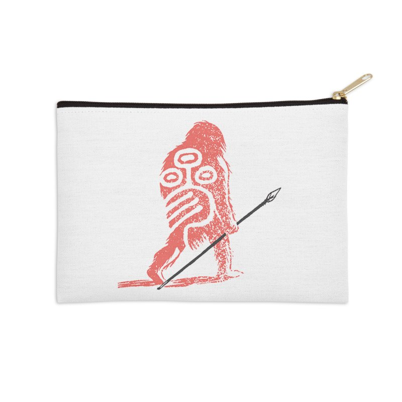 CRAIG THOMPSON UNCIV CAVEMAN LOGO Accessories Zip Pouch by Uncivilized Books Merch Shop